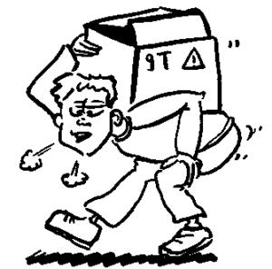 éviter le port de charges lourdes après une consultation en ostéo