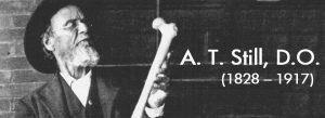 andrew taylor still avec un os, illustration pour l'histoire de l'ostéopathie - ostéopathe à cébazat